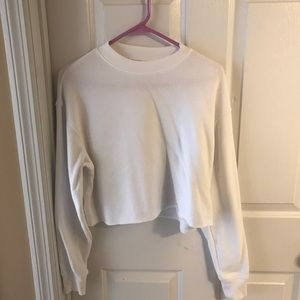 Forever 21 white cropped crewneck